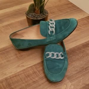 """J. Crew Shoes - Sale 🔥J crew """"charlie"""" suede /Lucite loafers"""